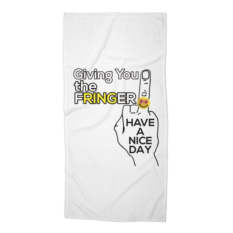 the FRINGER is the HAND GESTURE FOR eARTh Accessories Beach Towel by the FRINGER! • H.A.N.D. GESTURE FOR eARTh!