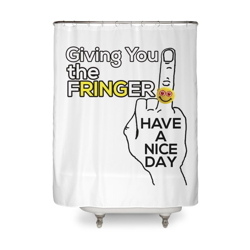 the FRINGER is the HAND GESTURE FOR eARTh Home Shower Curtain by H.A.N.D. GESTURE FOR eARTh! • View COLLECTIONS Too