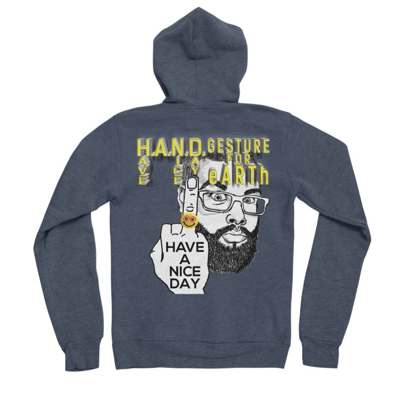 H.A.N.D. Poster supports the HAND GESTURE FOR eARTh Men's Sponge Fleece Zip-Up Hoody by H.A.N.D. GESTURE FOR eARTh! • View COLLECTIONS Too
