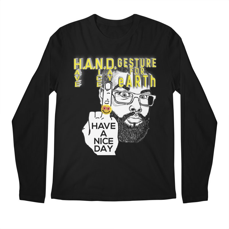H.A.N.D. Poster supports the HAND GESTURE FOR eARTh Men's Regular Longsleeve T-Shirt by H.A.N.D. GESTURE FOR eARTh! • View COLLECTIONS Too