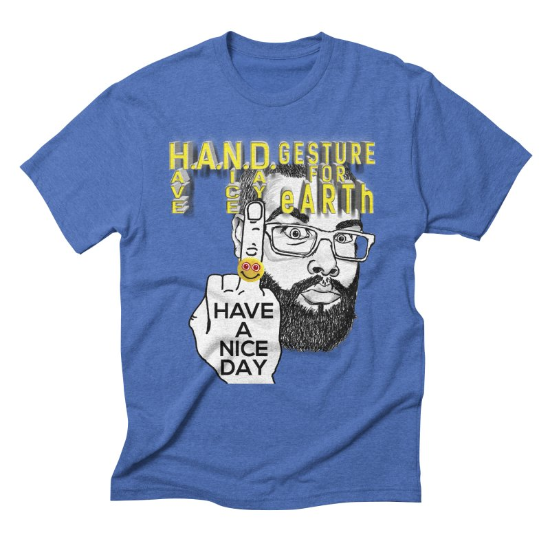 H.A.N.D. Poster supports the HAND GESTURE FOR eARTh Men's T-Shirt by H.A.N.D. GESTURE FOR eARTh! • the FRINGER!