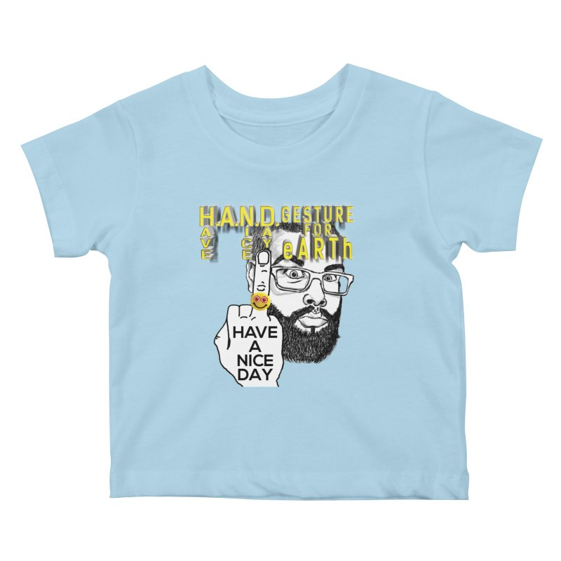 H.A.N.D. Poster supports the HAND GESTURE FOR eARTh Kids Baby T-Shirt by H.A.N.D. GESTURE FOR eARTh! • View COLLECTIONS Too