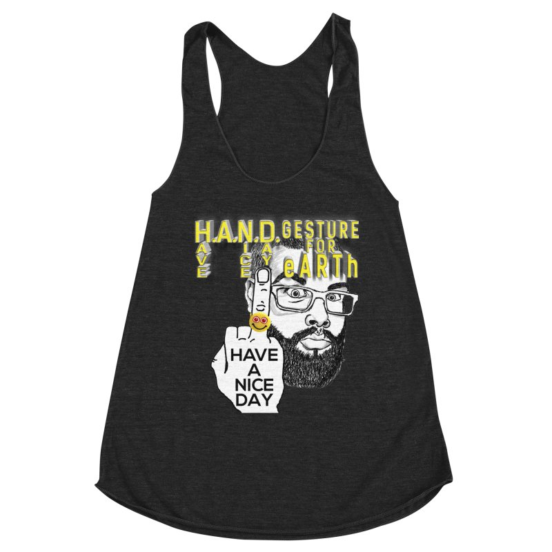 H.A.N.D. Poster supports the HAND GESTURE FOR eARTh Women's Racerback Triblend Tank by H.A.N.D. GESTURE FOR eARTh! • View COLLECTIONS Too