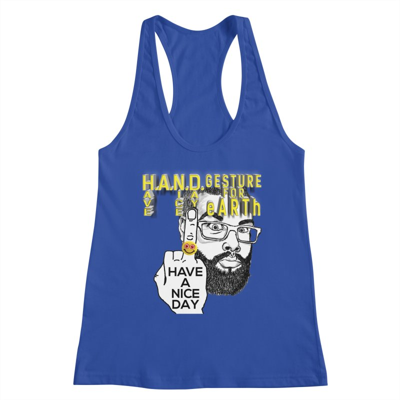 H.A.N.D. Poster supports the HAND GESTURE FOR eARTh Women's Racerback Tank by H.A.N.D. GESTURE FOR eARTh! • View COLLECTIONS Too