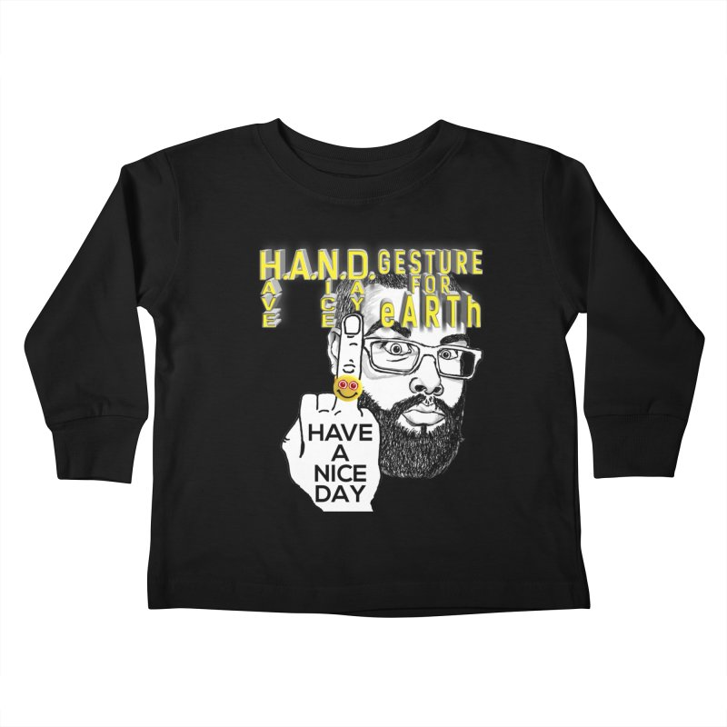 H.A.N.D. Poster supports the HAND GESTURE FOR eARTh Kids Toddler Longsleeve T-Shirt by H.A.N.D. GESTURE FOR eARTh! • View COLLECTIONS Too