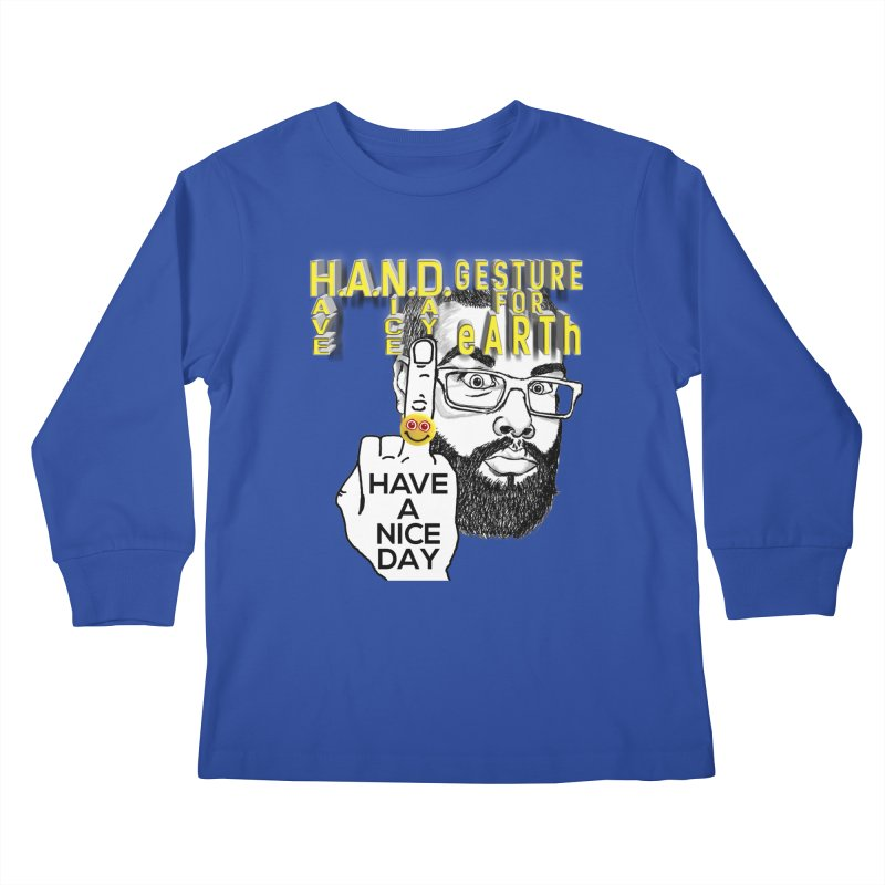 H.A.N.D. Poster supports the HAND GESTURE FOR eARTh Kids Longsleeve T-Shirt by H.A.N.D. GESTURE FOR eARTh! • View COLLECTIONS Too