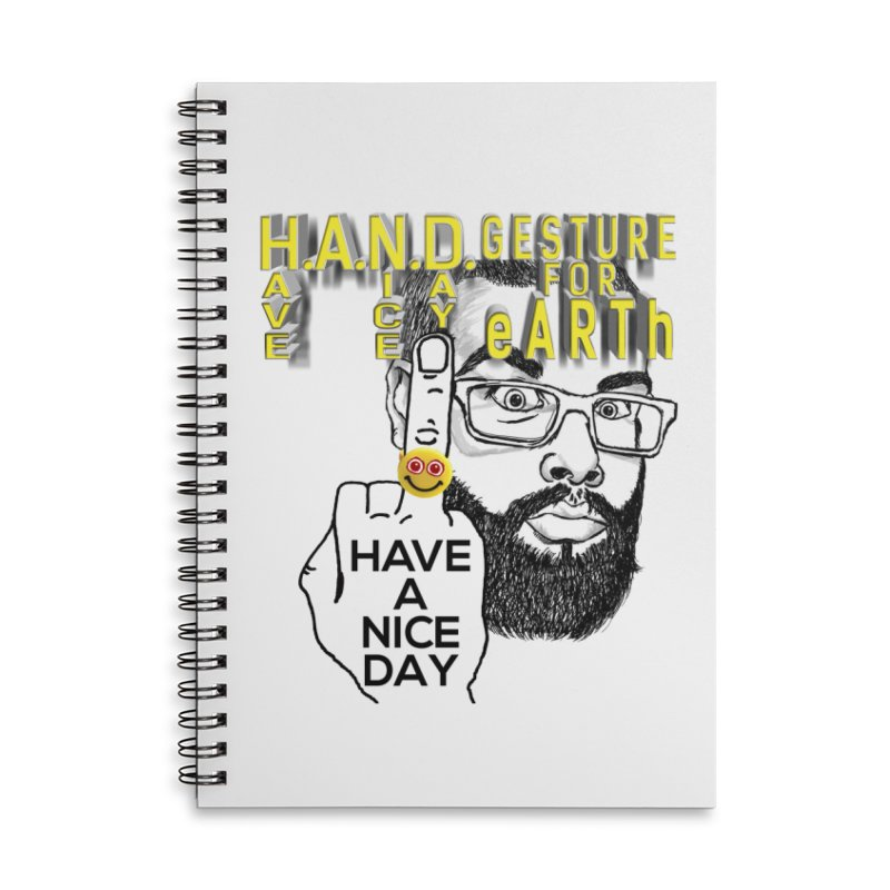 H.A.N.D. Poster supports the HAND GESTURE FOR eARTh Accessories Lined Spiral Notebook by H.A.N.D. GESTURE FOR eARTh! • View COLLECTIONS Too