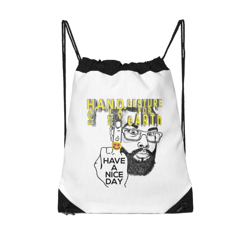 H.A.N.D. Poster supports the HAND GESTURE FOR eARTh Accessories Drawstring Bag Bag by H.A.N.D. GESTURE FOR eARTh! • View COLLECTIONS Too