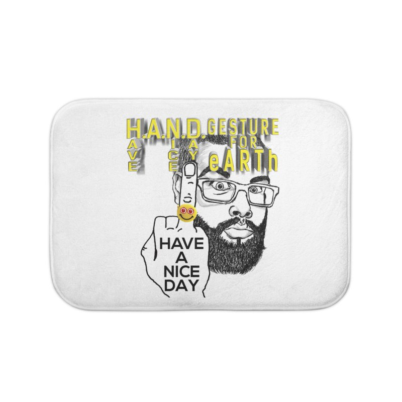 H.A.N.D. Poster supports the HAND GESTURE FOR eARTh Home Bath Mat by the FRINGER! • H.A.N.D. GESTURE FOR eARTh!