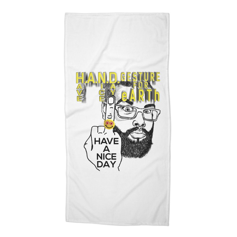 H.A.N.D. Poster supports the HAND GESTURE FOR eARTh Accessories Beach Towel by H.A.N.D. GESTURE FOR eARTh! • View COLLECTIONS Too