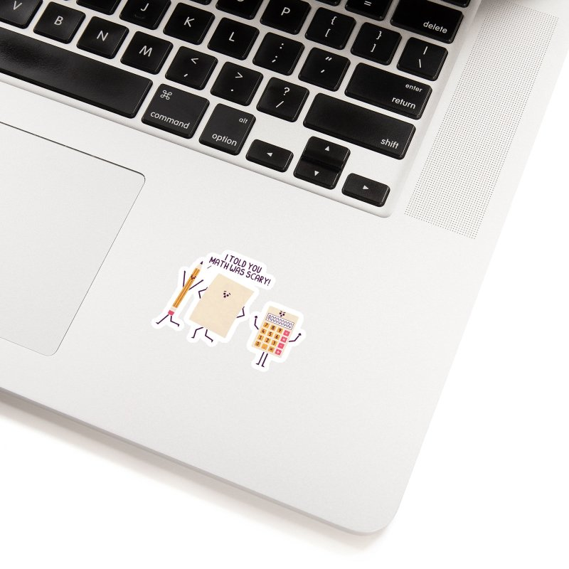 Scary Accessories Sticker by handsoffmydinosaur