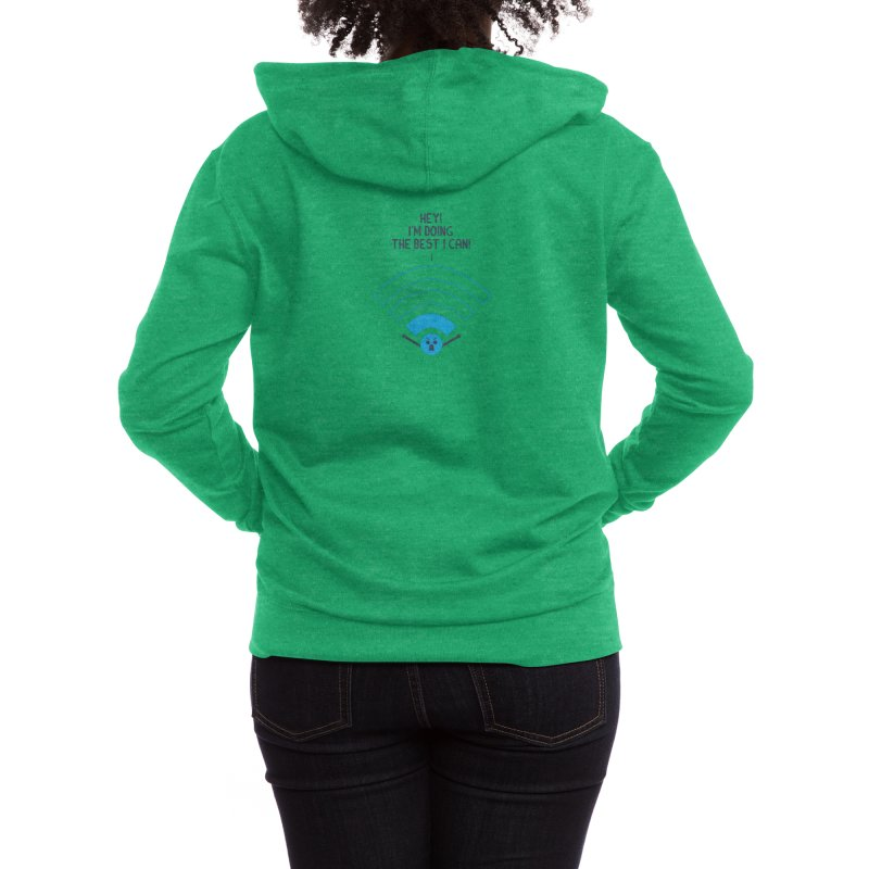 Angry WiFi Women's Zip-Up Hoody by