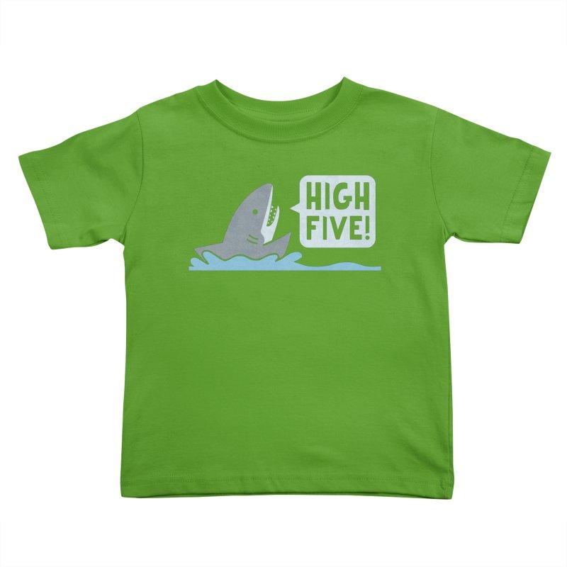 High Five Kids Toddler T-Shirt by handsoffmydinosaur