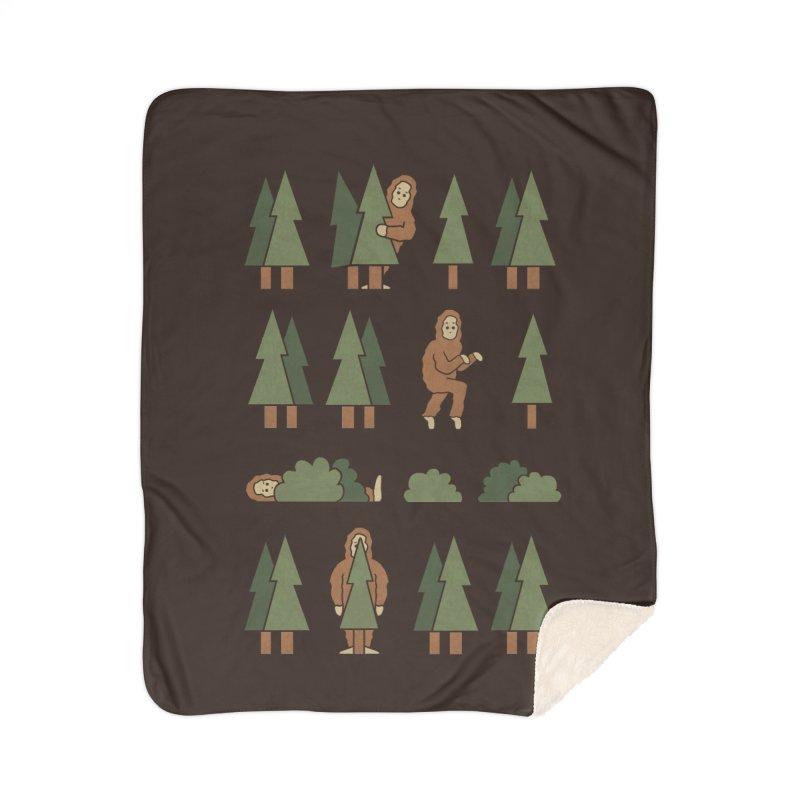 Bigfoot Forest Home Blanket by handsoffmydinosaur