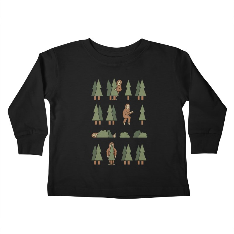 Bigfoot Forest Kids Toddler Longsleeve T-Shirt by