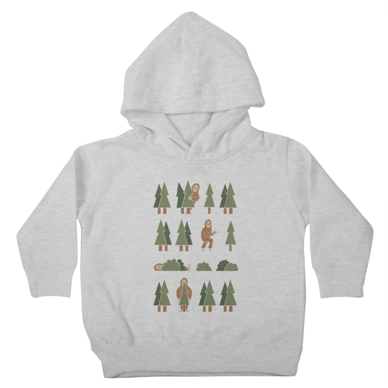 Bigfoot Forest Kids Toddler Pullover Hoody by