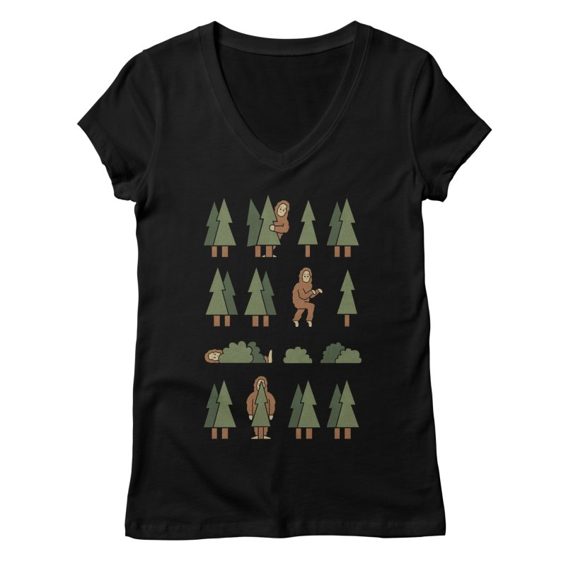 Bigfoot Forest Women's V-Neck by