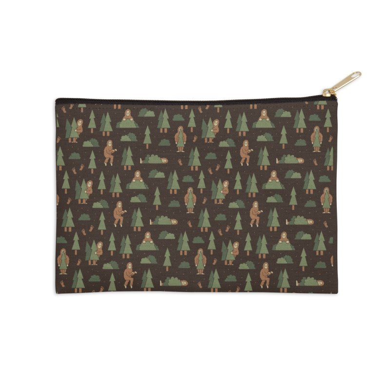 Bigfoot Forest Accessories Zip Pouch by handsoffmydinosaur