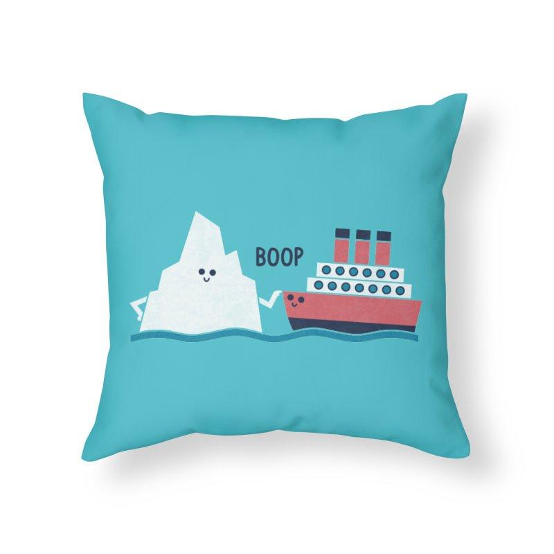 Boop Home Throw Pillow by handsoffmydinosaur