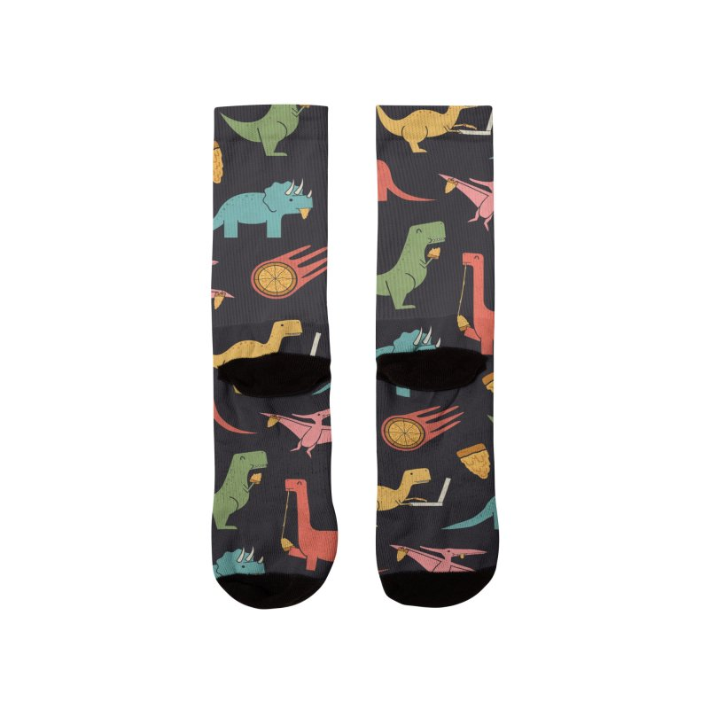 Pizza Dinos Men's Socks by handsoffmydinosaur