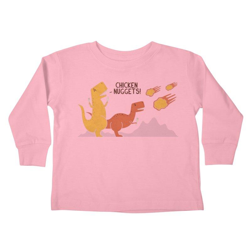 Nuggets Kids Toddler Longsleeve T-Shirt by handsoffmydinosaur