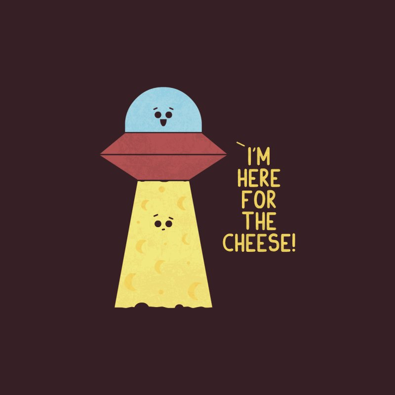 Here For Cheese Men's T-Shirt by handsoffmydinosaur