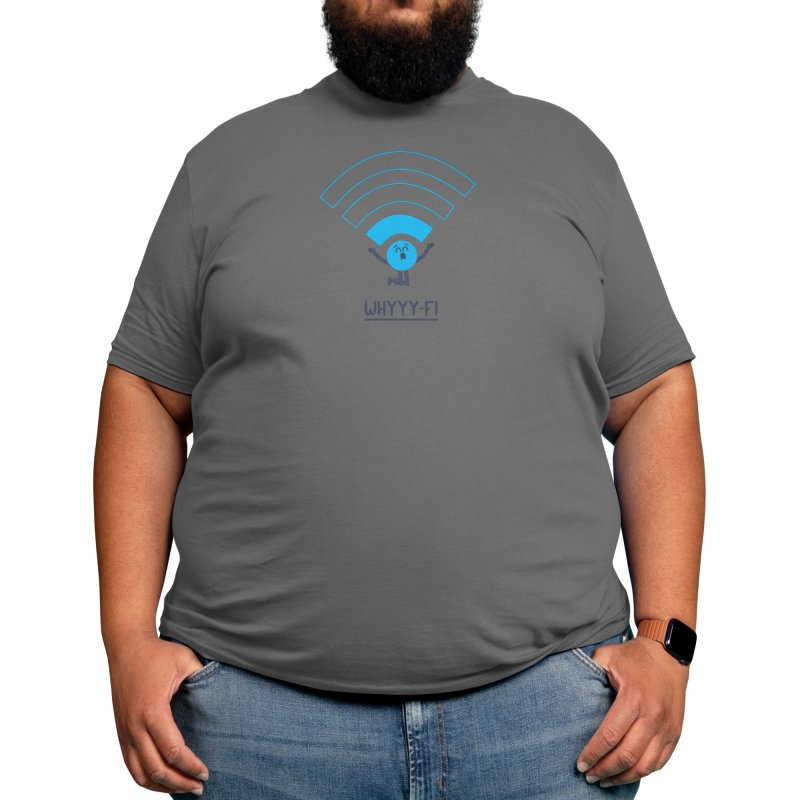 Why-Fi Men's T-Shirt by handsoffmydinosaur