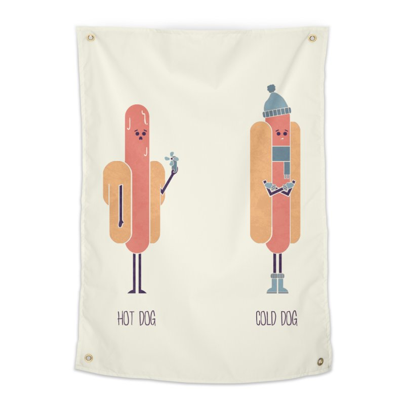 Opposites - Hot Dog Home Tapestry by