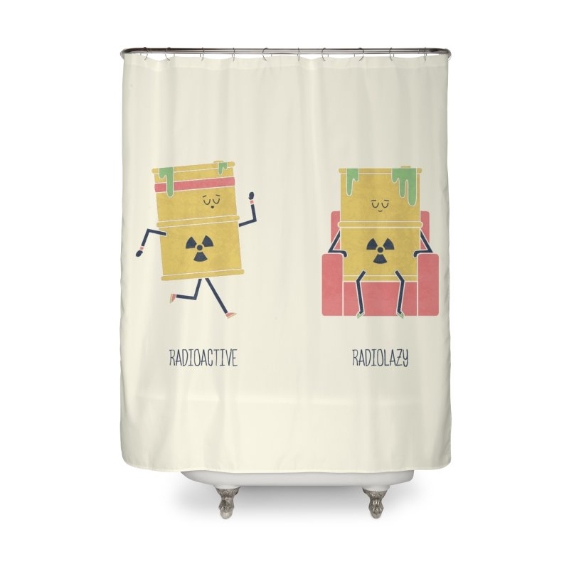 Opposites - Radioactive Home Shower Curtain by
