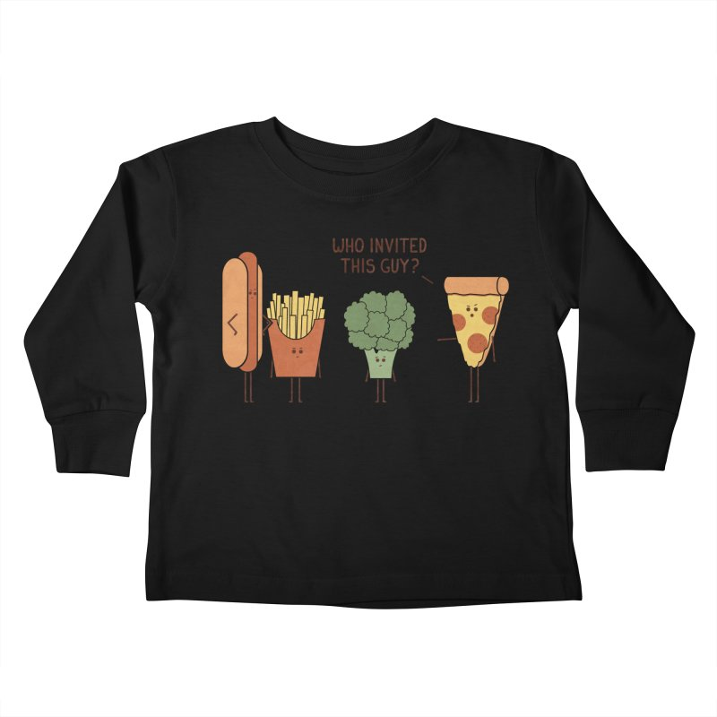 Party Crasher Kids Toddler Longsleeve T-Shirt by handsoffmydinosaur