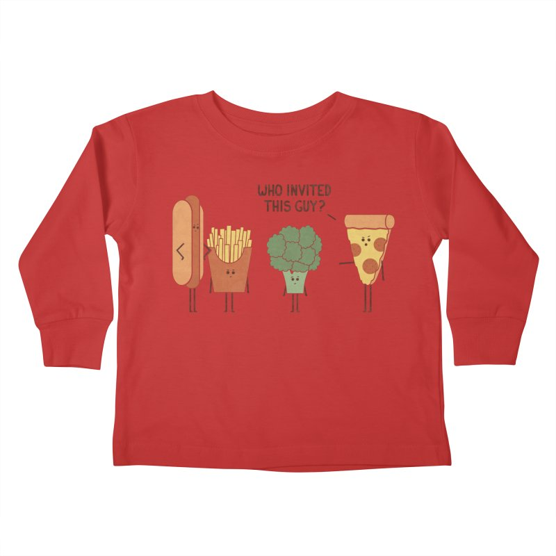 Party Crasher Kids Toddler Longsleeve T-Shirt by handsoffmydinosaur