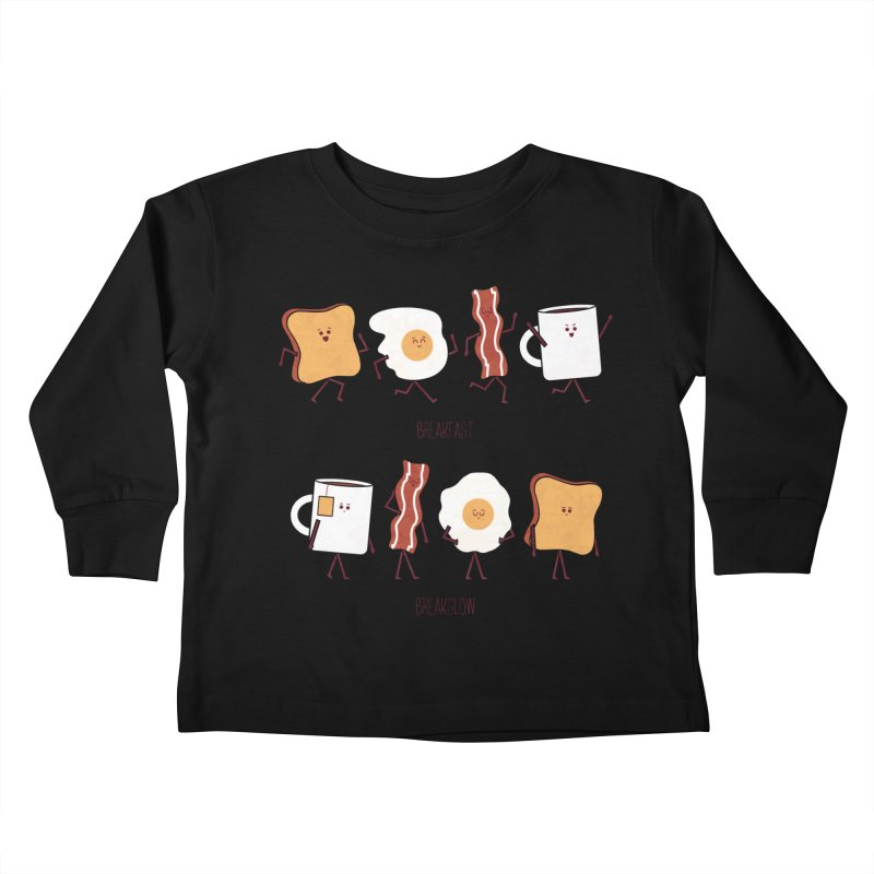 Opposites - Breakfast Kids Toddler Longsleeve T-Shirt by