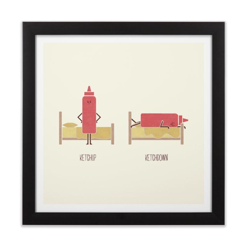 Opposites - Ketchup Home Framed Fine Art Print by