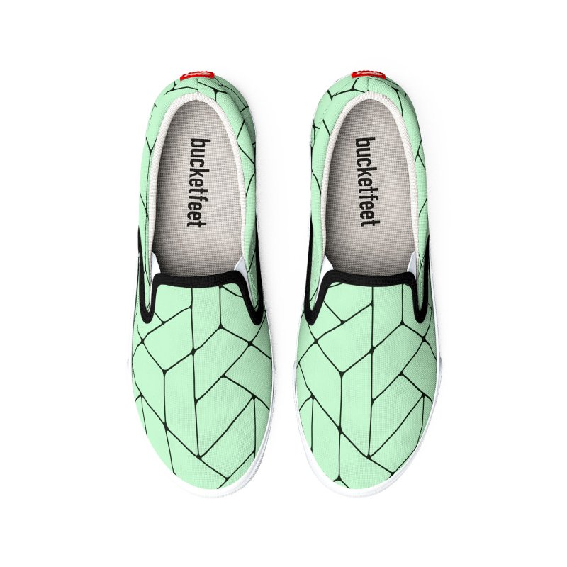 Green Triangles Men's Shoes by HANGERMAN NYC