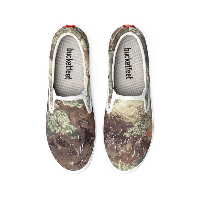 Old Fashioned Flowers Men's Shoes by HANGERMAN NYC