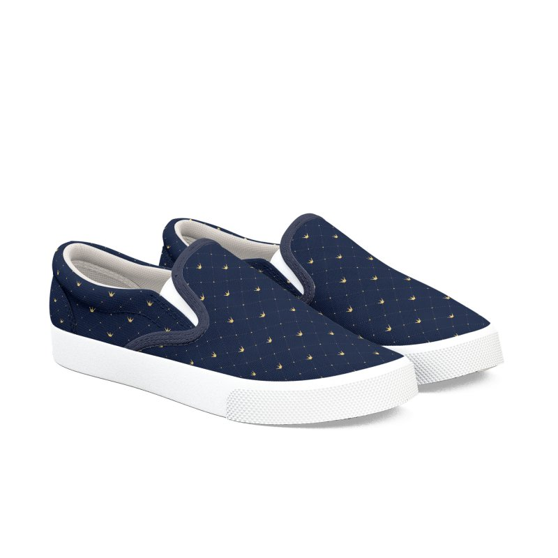 Crown Blue Shoes Men's Slip-On Shoes by HANGERMAN NYC