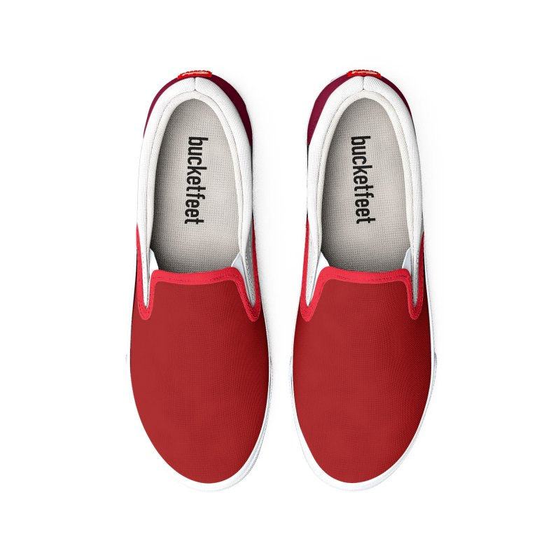 Red White Men's Shoes by HANGERMAN NYC