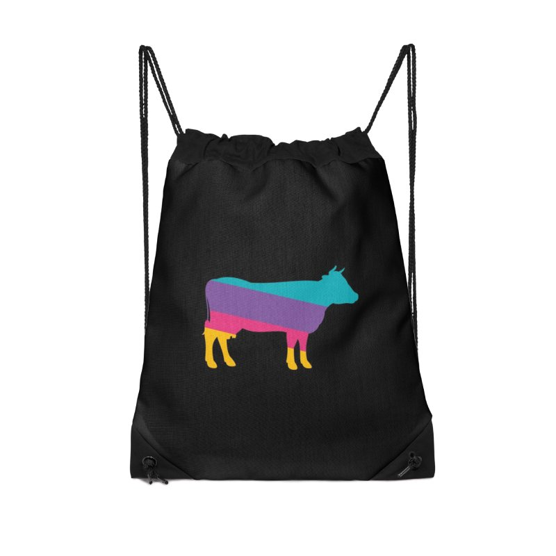 Cow Accessories Drawstring Bag Bag by HANGERMAN NYC