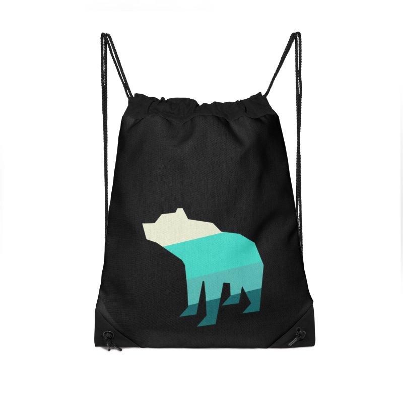 Bear Accessories Drawstring Bag Bag by HANGERMAN NYC