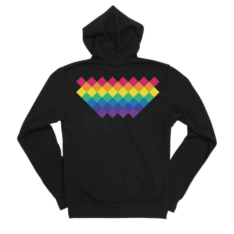 PRIDE 2019 Men's Zip-Up Hoody by HANGERMAN NYC