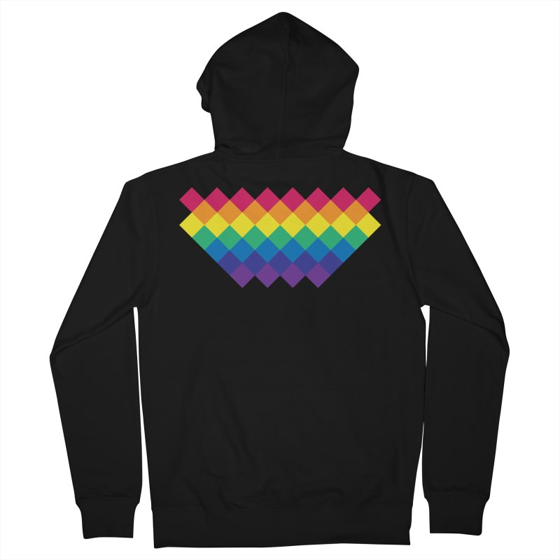 PRIDE 2019 Men's French Terry Zip-Up Hoody by HANGERMAN NYC