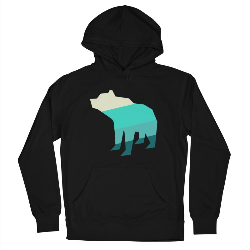 Bear Men's French Terry Pullover Hoody by HANGERMAN NYC