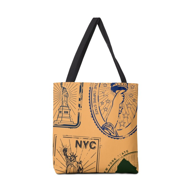 NY Stamps Accessories Tote Bag Bag by HANGERMAN NYC