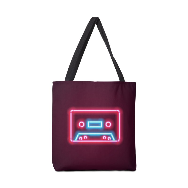 Tape Neon Accessories Tote Bag Bag by HANGERMAN NYC