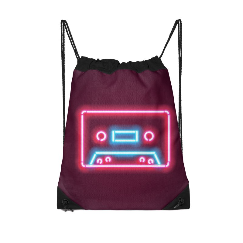 Tape Neon Accessories Drawstring Bag Bag by HANGERMAN NYC