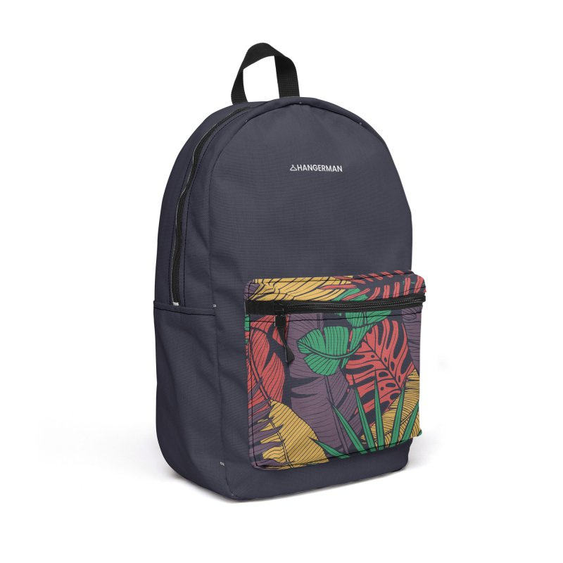 Purple Foral Accessories Backpack Bag by HANGERMAN NYC