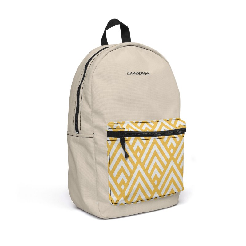 Yellow Triangle Accessories Backpack Bag by HANGERMAN NYC
