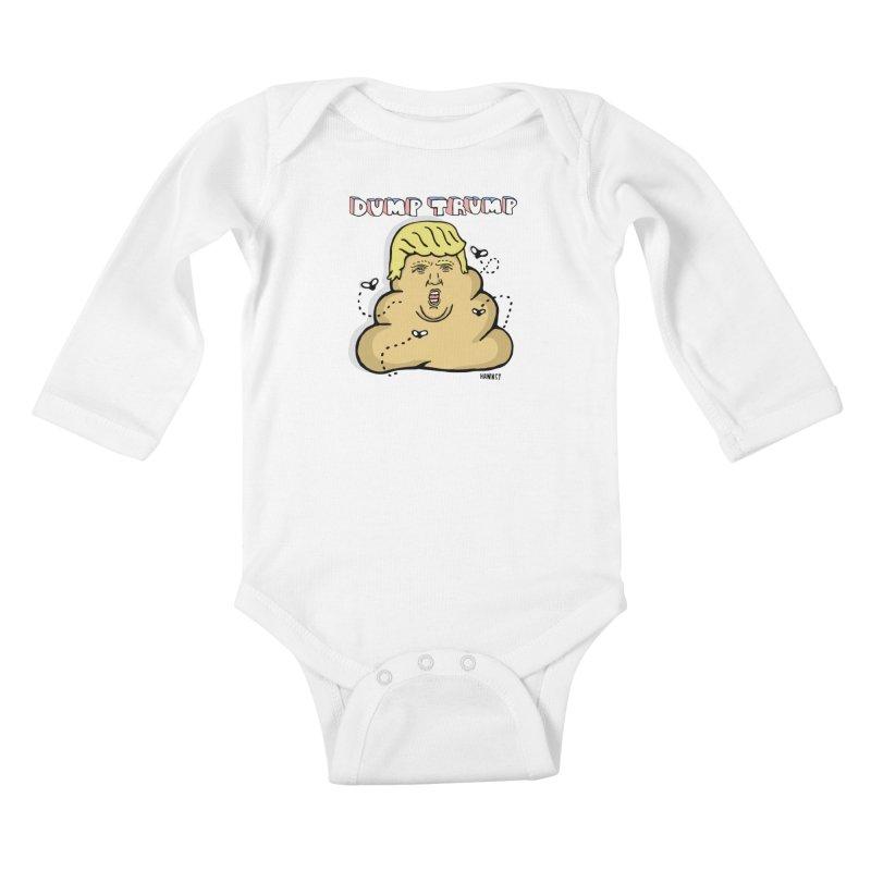 Dump Trump #2 Kids Baby Longsleeve Bodysuit by hanksy