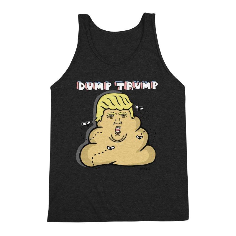 Dump Trump #2 Men's Triblend Tank by hanksy