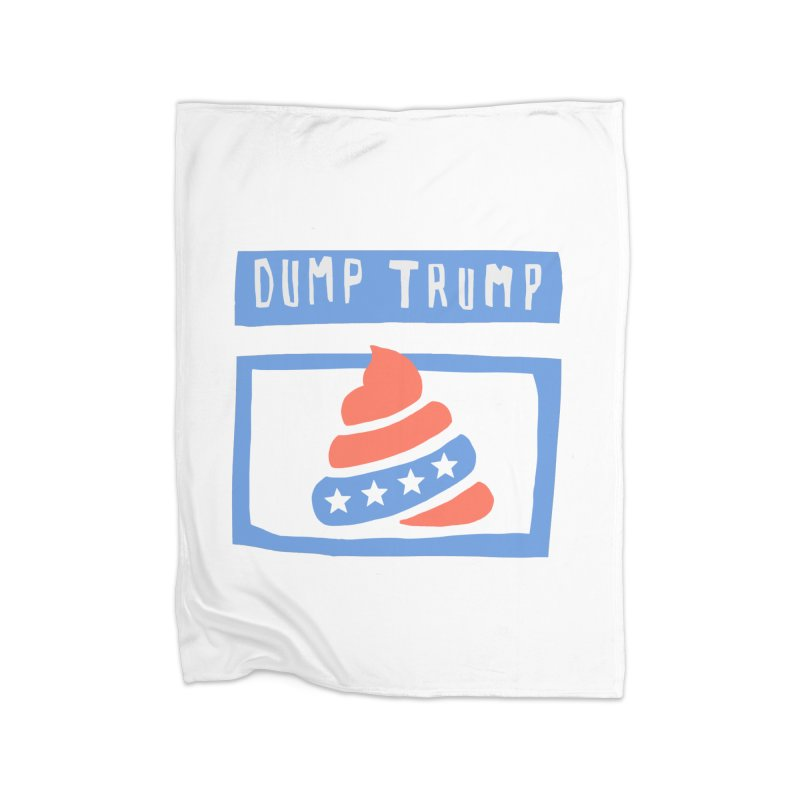 Dump Trump #3 Home Blanket by hanksy
